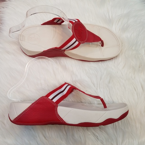 e832e8597 Fitflop Shoes - ⬇️35 FITFLOP Walkstar Red Stripe Toning Sandals 10